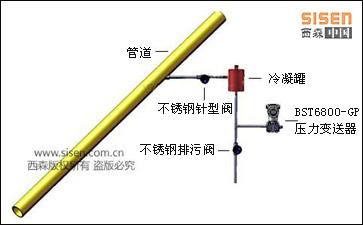 BST6800压力变送器安装示意图