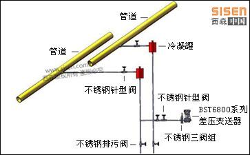 BST6800差压变送器安装示意图