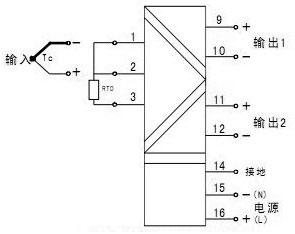 单路热电偶/热电阻输入,双路输出(一进二出)