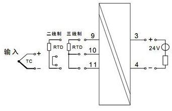 单路热电偶/热电阻输入,单路输出(一进一出)