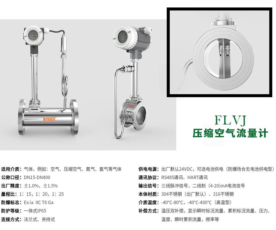 FLVJ压缩空气涡街流量计