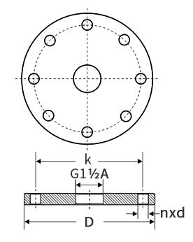 固体锥面式雷达物位计法兰