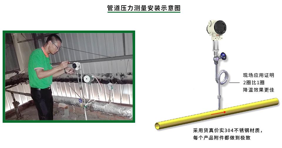 高温工业型压力变送器安装示意图