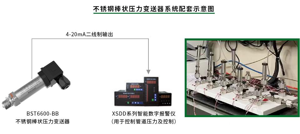 不锈钢棒式压力变送器系统展示