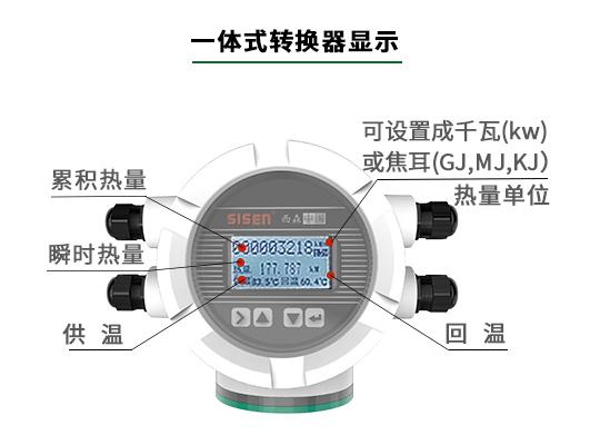 电磁式热能表显示