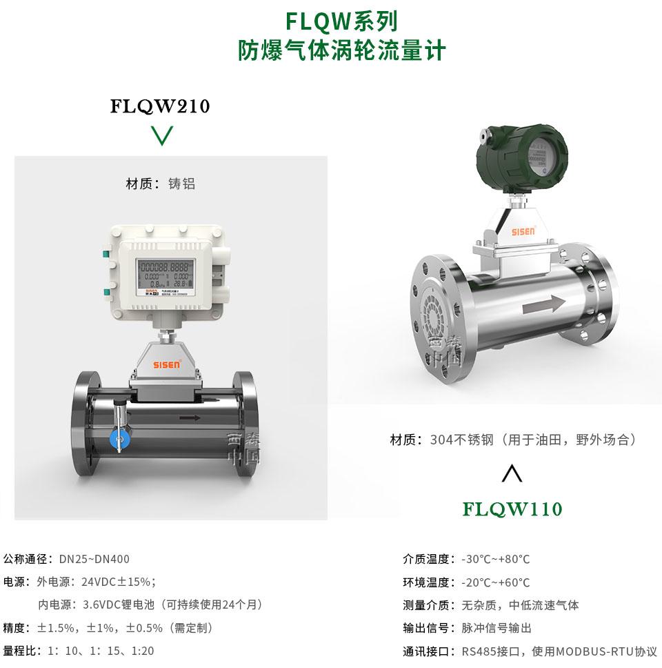 FLQW系列防爆气体涡轮流量计-厂家