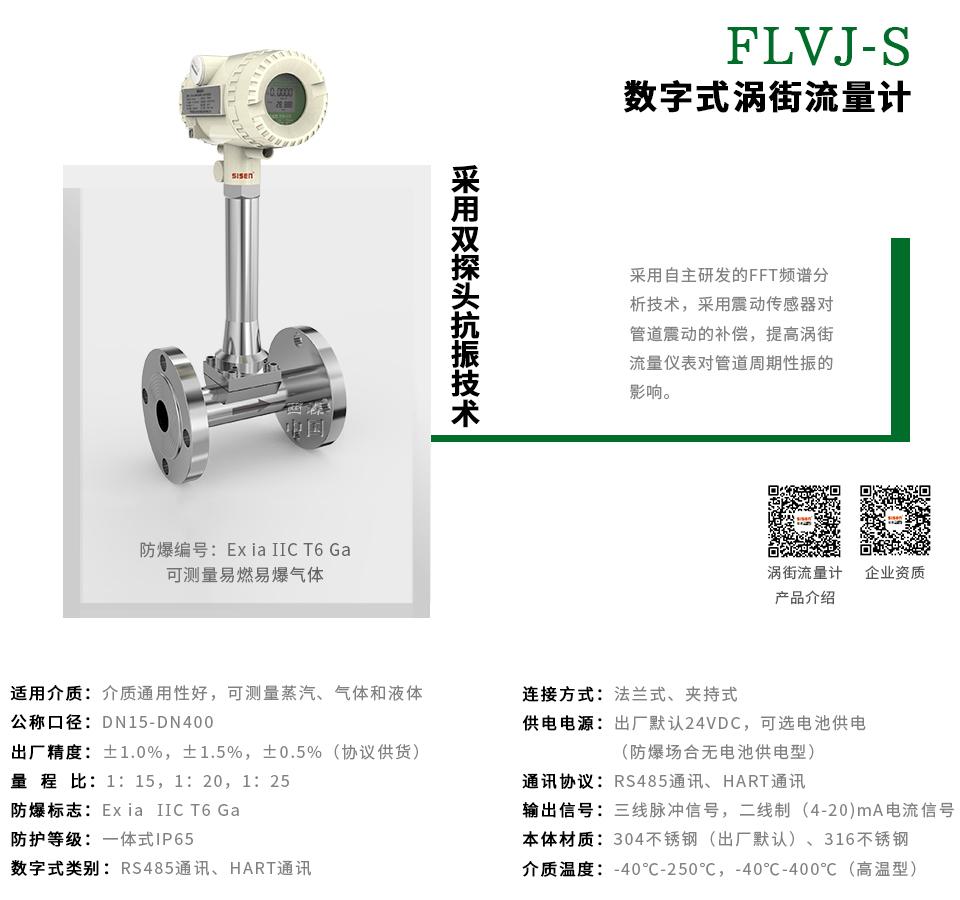 FLVJ-S系列数字式涡街流量计