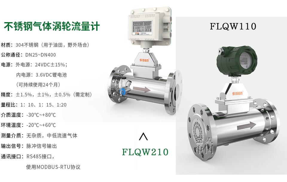 FLQW系列不锈钢气体涡轮流量计-厂家