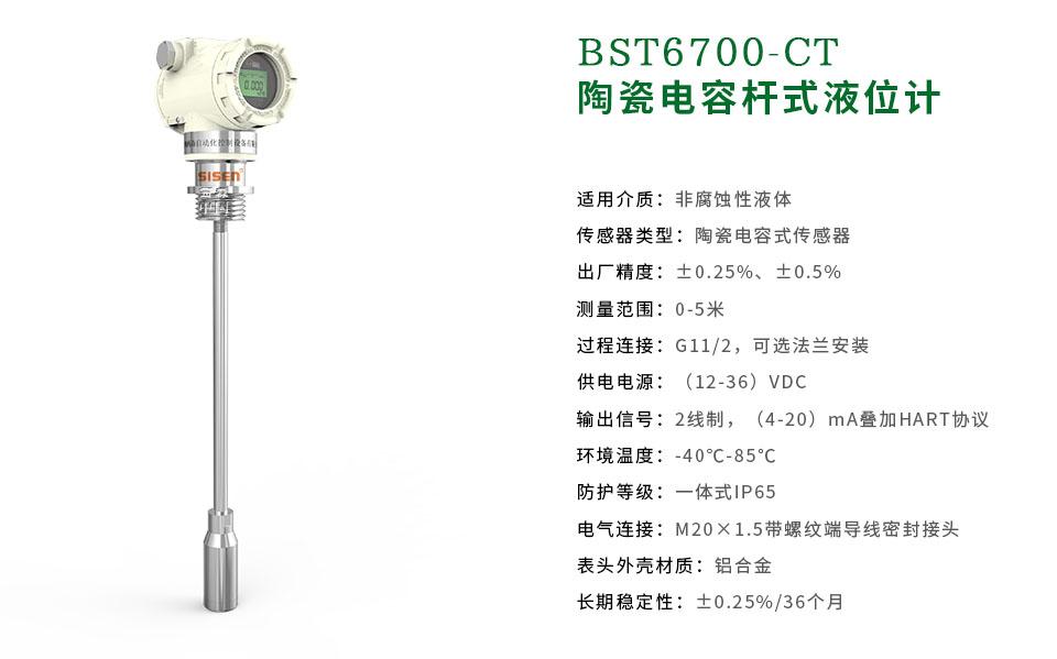 西森BST6700系列陶瓷电容杆式液压计-厂家