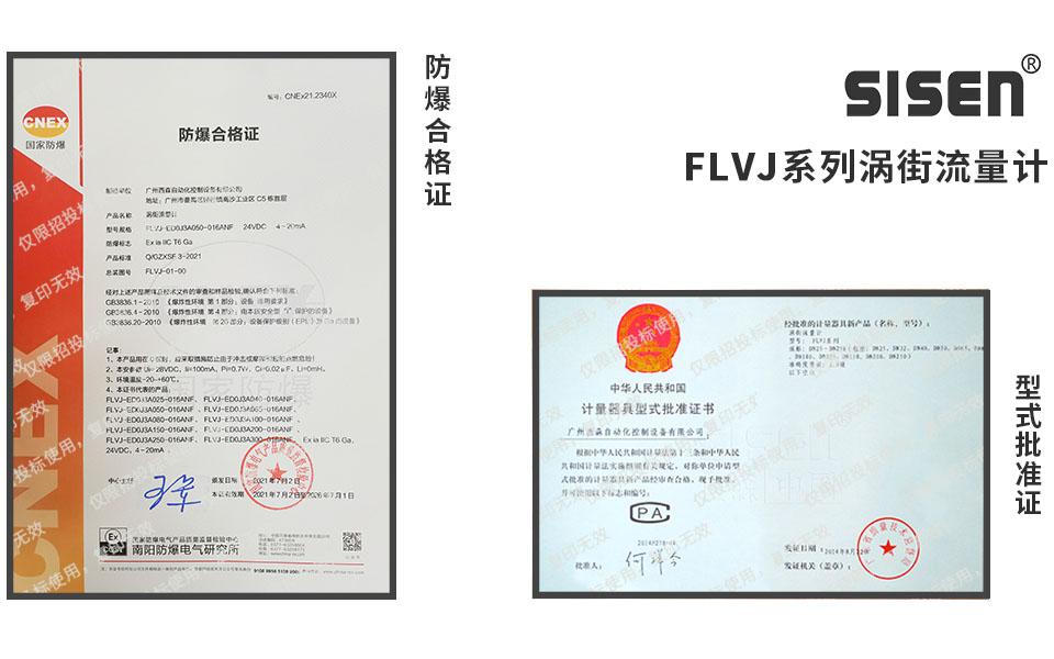 FLVJ涡街流量计企业资质认证