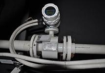 西森污水电磁流量计在淄博污水厂现场