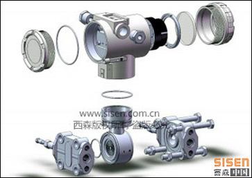 BST6800压力变送器3D图